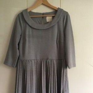 Modcloth grey peter pan collar dress 1x